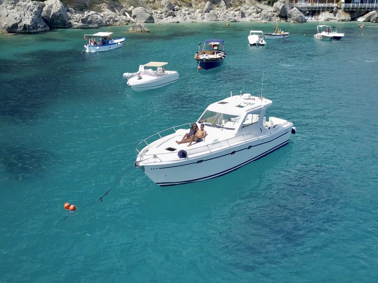 Matt & Kerstin on a Boat in Isle of Capri Italy